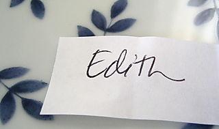 Edith blog