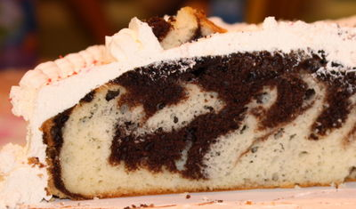 Cake cross section