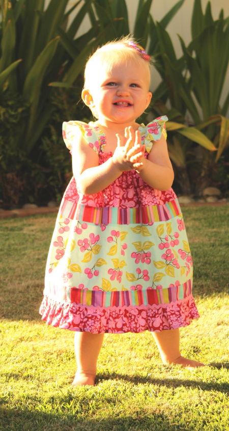 Happy girl hazel
