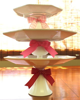 Pink white tiers