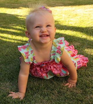 Hazel crawling smiles