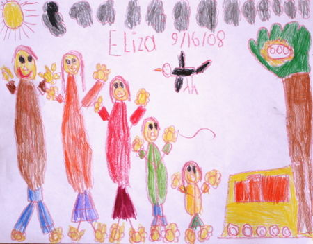 Eliza's drawing of family