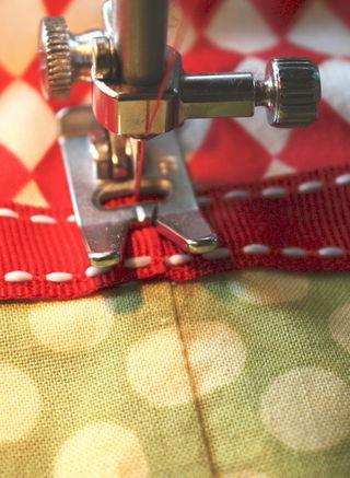 Ribbon final stitch