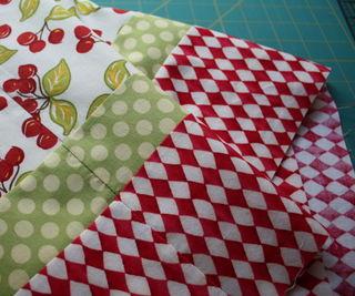 Strips sewn side