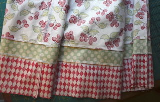 Strips sewn finished