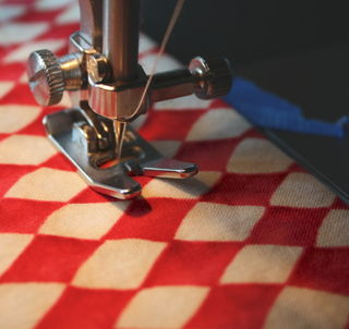 Waistband casing stitched