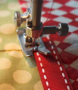 Ribbon start stitch