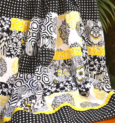Taxi trio skirt closeup
