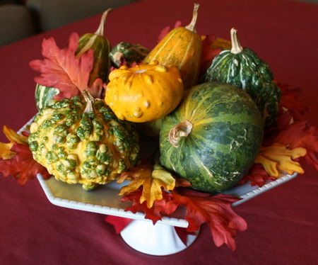 Gourds on plate