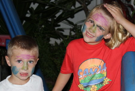 Eliza and hyrum painted faces