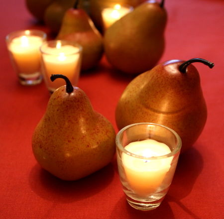 Pears and candles2