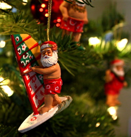 Windsailing santa