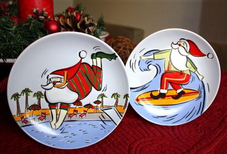 Santa plates 1