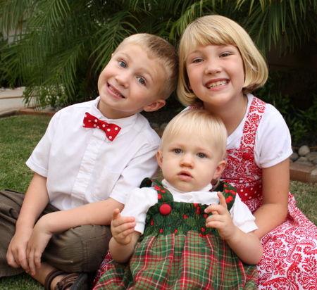 3 kids, cheesy