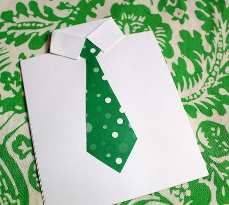 Necktie card