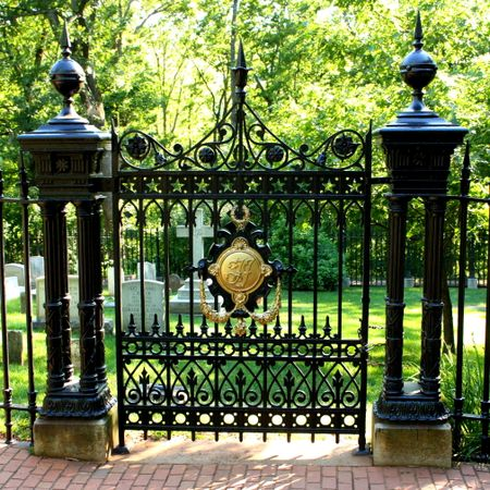 Cemetary fence gate