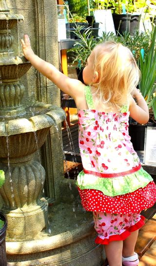 Hazel at fountain