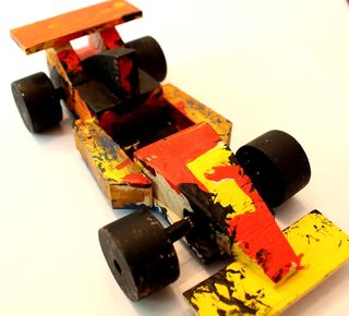Hyrum's race car