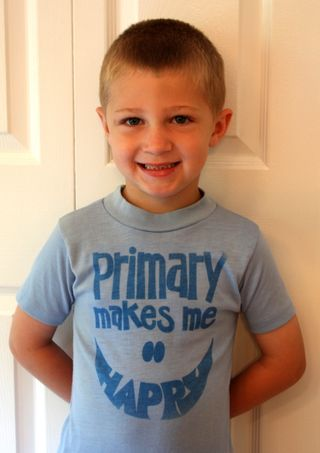 Hyrum, Primary Happy shirt