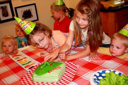 Petting the caterpillar cake