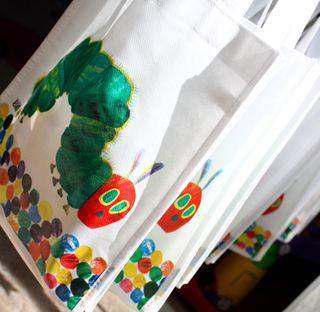 Caterpillar party bags