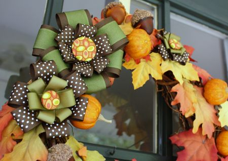 Autumn wreath detail