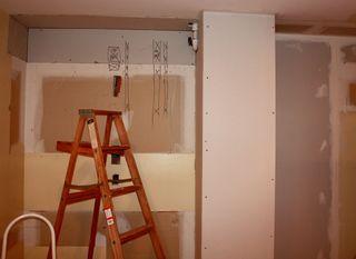 Kitchen demo pantry area