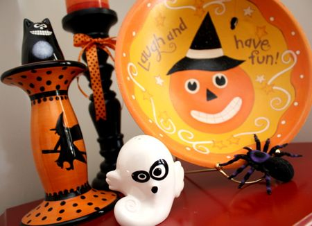 Halloween entry decor