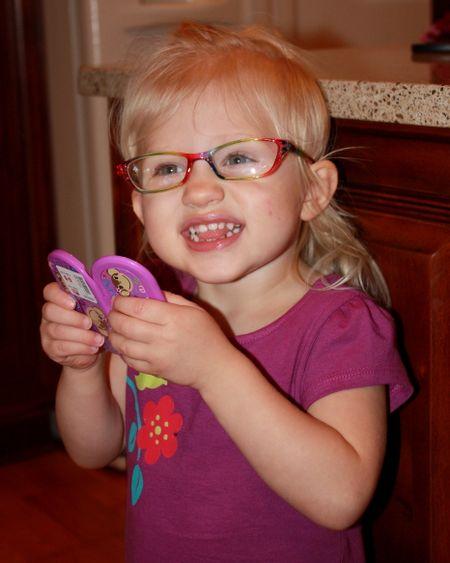 Hazel's rainbow glasses