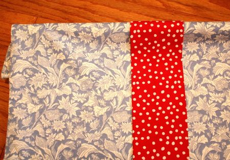 Valance strips front view