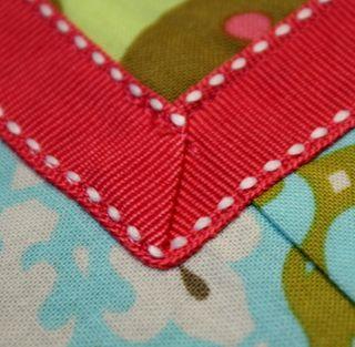 Half apron ribbon detail