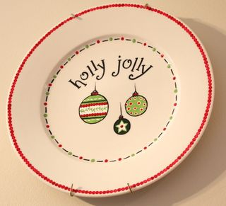 Holly Jolly plate