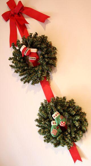 Mitten wreaths