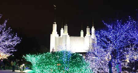 DC temple with lights