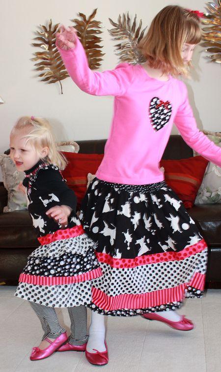 Hazel and Eliza dancing