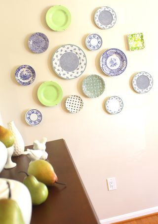 Blue and green plates
