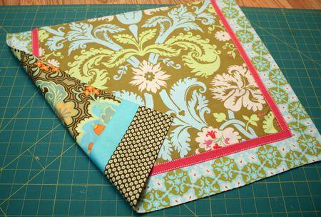 Half apron sewn together