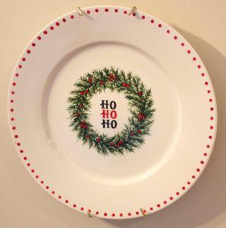 Ho Ho Ho plate