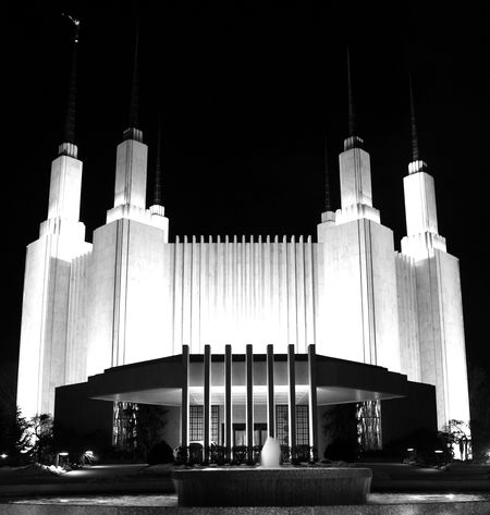 DC temple at night