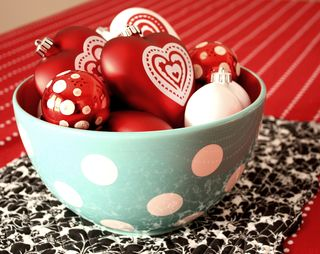 Hearts in bowl