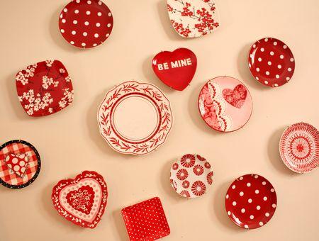 Valentine plate wall