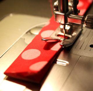 Strap stitched shut