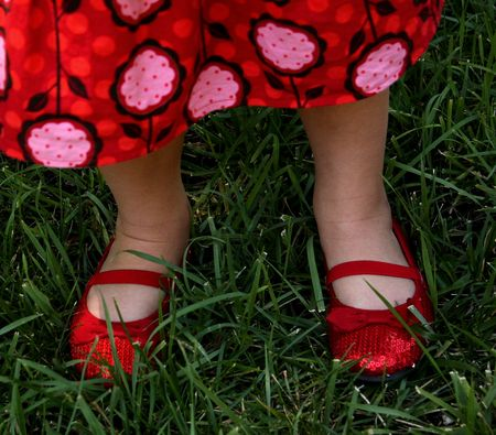 Hazel's red shoes