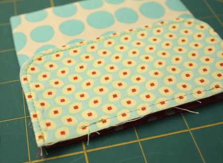 Flap sewn