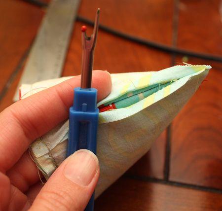 Rip out stitching