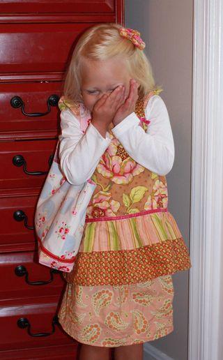 Hazel's first day of preschool