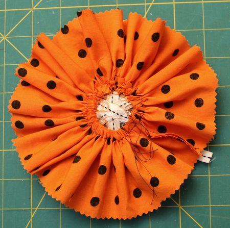 Back fabric circle