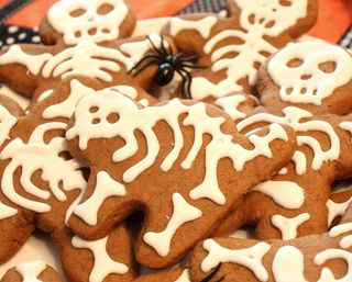 Gingerbread cat skeleton
