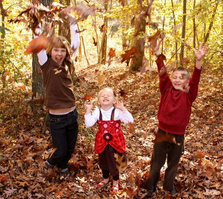 Kids in leaves2