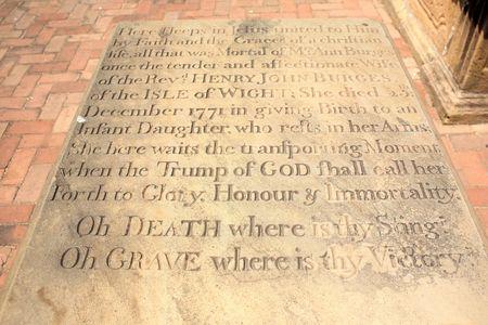 Mother's gravestone
